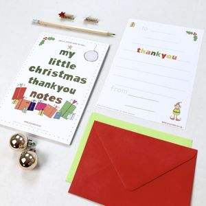 'Little Christmas' Thank You Note Pack - thank you cards