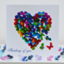 Butterfly Heart Card, Butterfly Love Card. Tbl