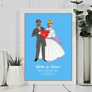 Customised Wedding Couple Print