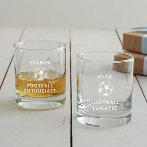 Personalised Football Tumbler Glass - summer sale