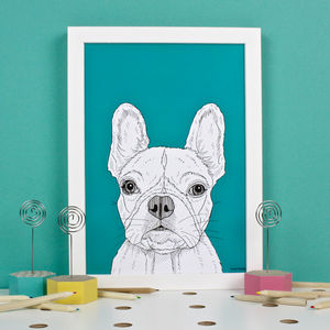 French Bulldog Portrait Print - animals & wildlife