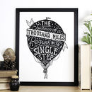 Hot Air Balloon Travel Quote Print