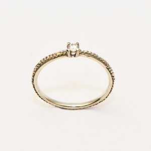 Infinity Minimal Solitaire Ring - wedding jewellery