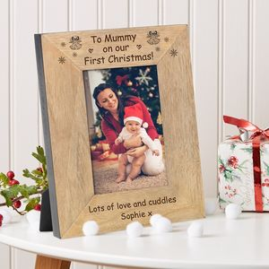 To Mummy On Our First Christmas Frame - picture frames