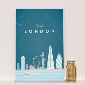 'Visit London' Travel Poster