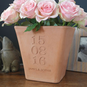Personalised Engraved Special Date Pot - personalised