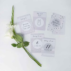 Grey Baby Milestone Cards - baby shower gifts