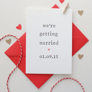 Personalised 'Getting Married' Wedding Card - wedding cards & wrap