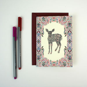 Greeting Card Botanist Deer