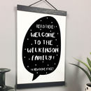 Personalised Family Name And Home A4 Print