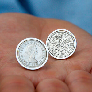 60th Birthday 1961 Sixpence Coin Cufflinks