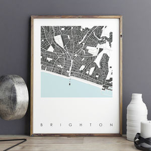 Brighton Map Art Print Limited Edition