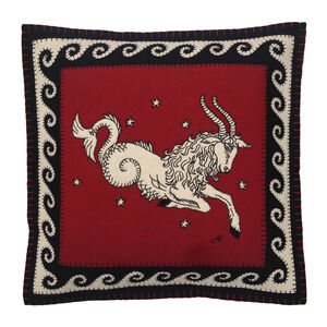 Hand Embroidered Capricorn Zodiac Cushion