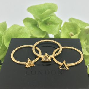 Gold Vermeil Bella Tri Ring - rings