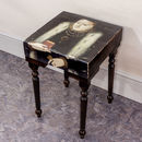Handmade Vintage Queen Of Regina Side Table