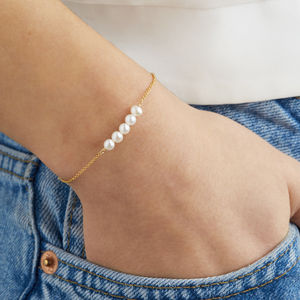 Delicate Silver, Rose Or Gold Pearl Cluster Bracelet - jewellery sale