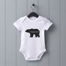 Personalised Baby Bear Baby Grow