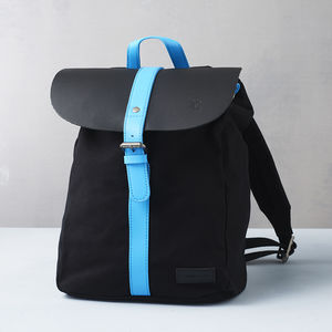 Canvas Backpack With A Flash Of Colour - bags & cases