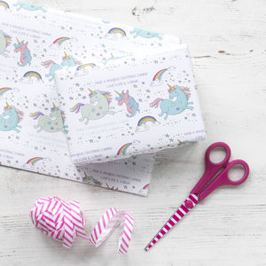 Personalised Magical Unicorn Christmas Wrapping Paper