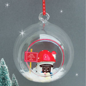 Personalised Baby's First Christmas Bunnie Bauble