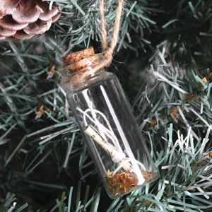 Christmas Tree Gold Or Silver Wish Decoration
