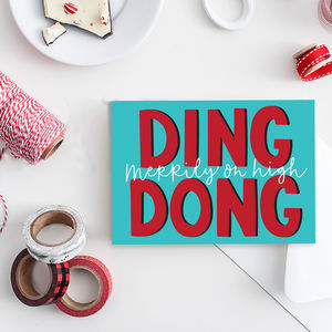 Ding Dong Pack Of Six Christmas Cards - view all gifts