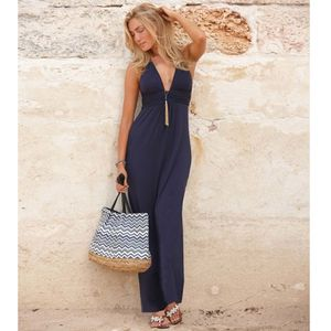 Aspiga St Tropez Maxi Halter Dress - women's fashion