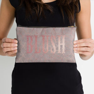 Rose Gold Shimmer Make Up Pouch