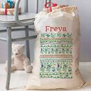 Personalised Christmas Gift Sack - woodland design