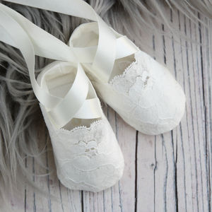Christening Booties Holly - christening wear