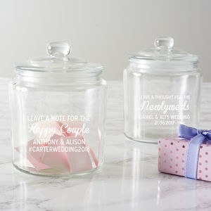 Personalised Leave A Note Wedding Jar - less ordinary guest books