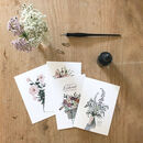 'Appreciation' Hand Illustrated Floral Postcard Set