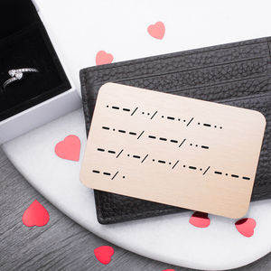 'Will You Marry Me' Morse Code Marriage Proposal Card