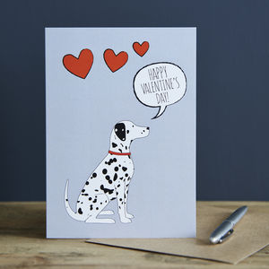Dalmatian Valentine's Day Card - cards & wrap