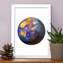 Planet Mercury Print Painting Illustration