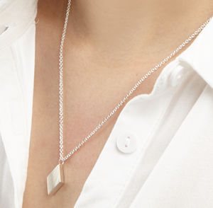 Geometric Diamond Pendant Necklace - necklaces & pendants