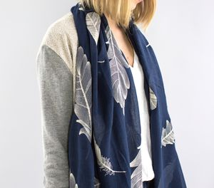 Personalised Embroidered Feather Scarf - fashion sale