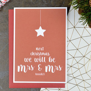 Next Christmas We Will Be Mrs And Mrs Card - cards & wrap
