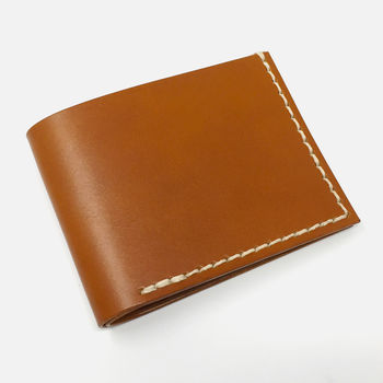 Personalised Leather Wallet by Leather & Thread in Tan
