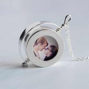 Silver Spinning Locket