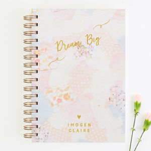 Dream Big Personalised Floral Notebook