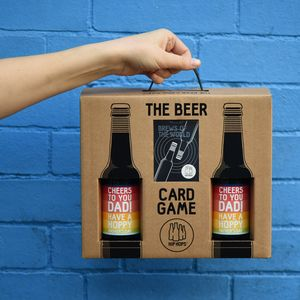Personalised Beer And Card Game Gift Set - beer & cider