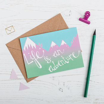 'Life Is An Adventure' Greetings Card