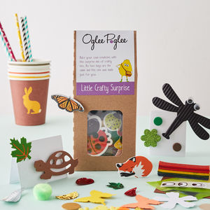 Woodland Craft Party Bag - model & craft kits