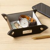 Leather Coin And Accessory Tray - men's jewellery