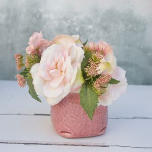 Aged Pink Cracked Vase - home accessories