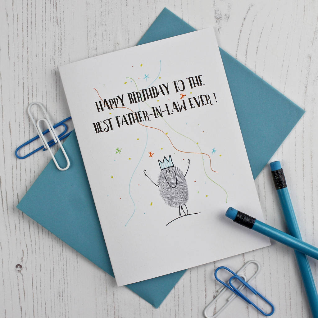 Father In Law Birthday Card By Adam Regester Design
