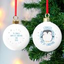 Personalised My First Penguin Bauble