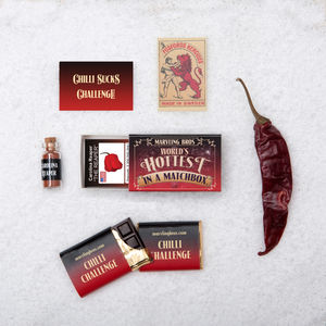 Carolina Reaper And Chilli Chocolate In A Matchbox - spicy food gift ideas