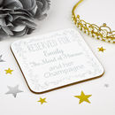 Personalised Maid Of Honour Wedding Coaster